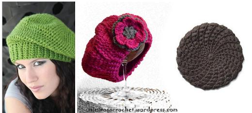 Patrones de boinas a crochet | diarioartesanal