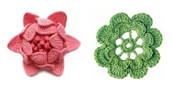 Esquemas de flores a crochet para hilo o lana | diarioartesanal