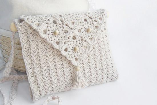 Esquemas de crochet para una cartera de hilo | diarioartesanal