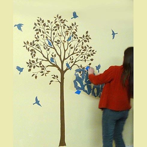 Stencil: Métodos y plantillas para decorar paredes | diarioartesanal
