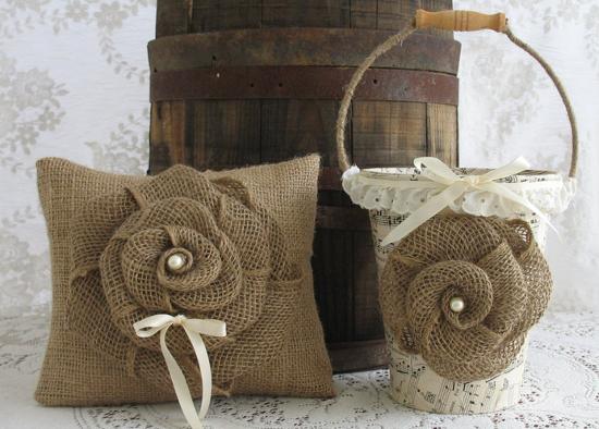Manualidades arpillera - Manualidades con tela de saco ...
