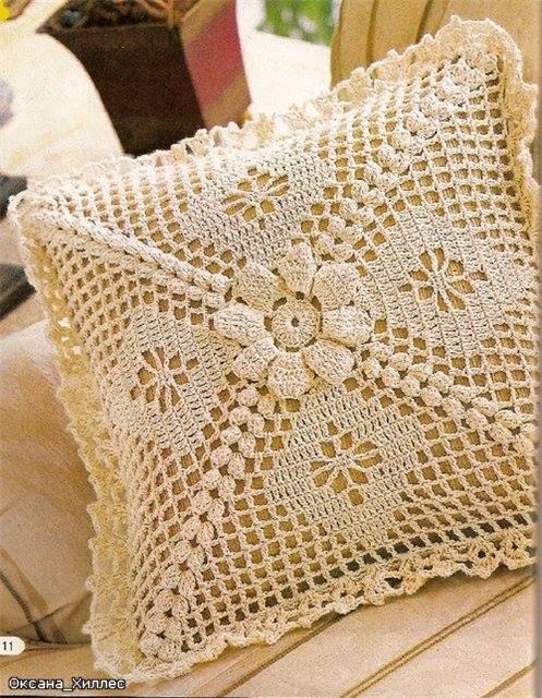 Cojines tejidos a crochet con patrones - Imagui